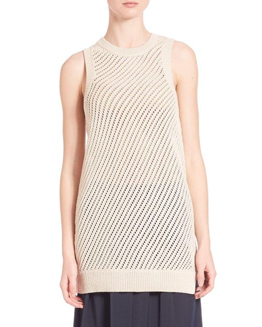Vince   Multicolor Mesh Stitched Tank Top   Lyst