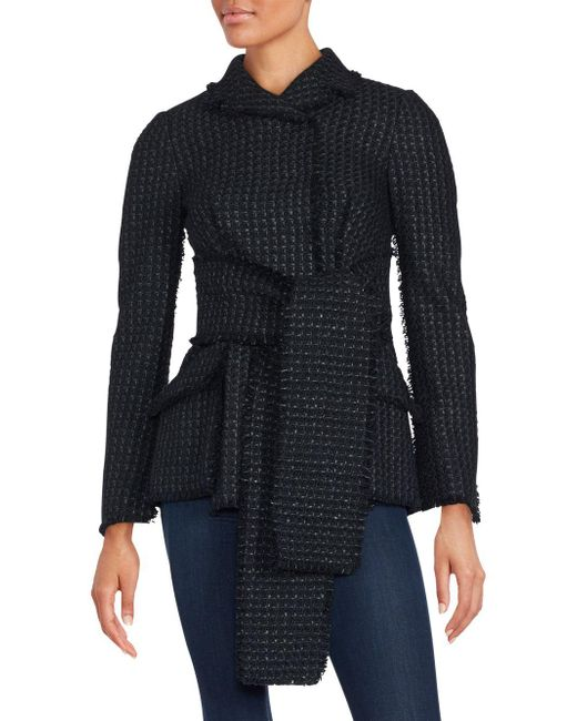 Proenza Schouler | Black Waist Tie Sweater Jacket | Lyst