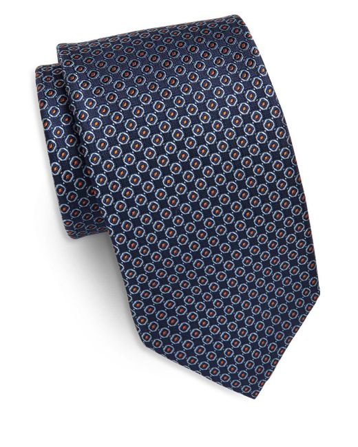 Saks Fifth Avenue | Blue Dotted Silk Tie for Men | Lyst