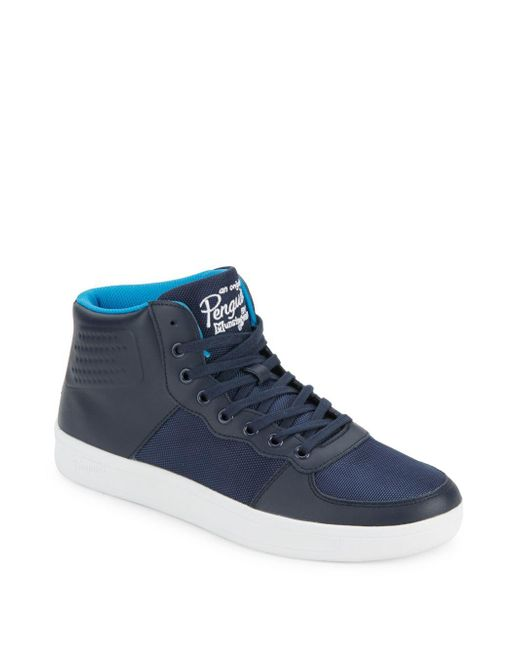 Original Penguin | Blue High-top Lace-up Sneakers for Men | Lyst