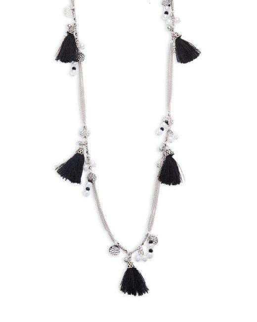 Cara   Metallic Tassel Pendant Necklace   Lyst