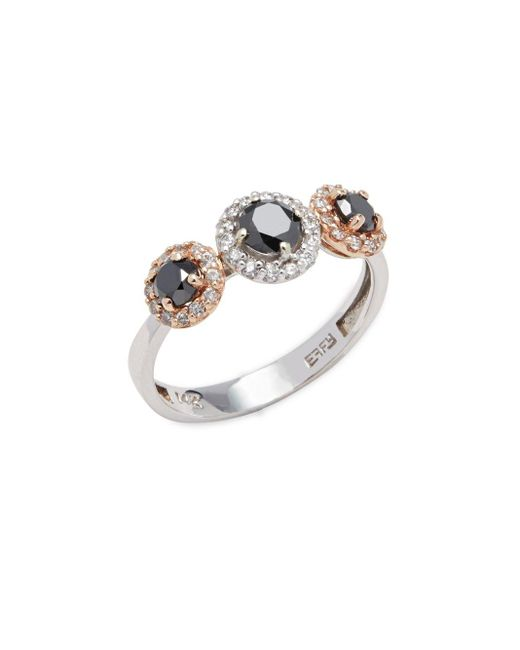 Effy | Metallic Diamond, 14k White & Rose Gold Ring | Lyst