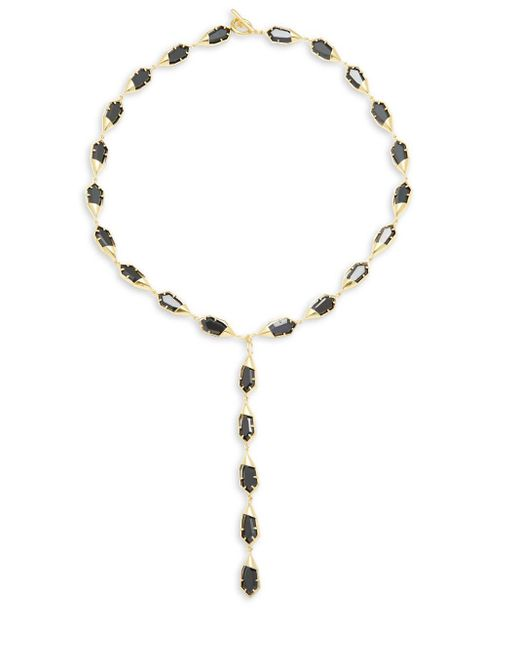 Noir Jewelry   Metallic Gold & Black Toggle Necklace   Lyst