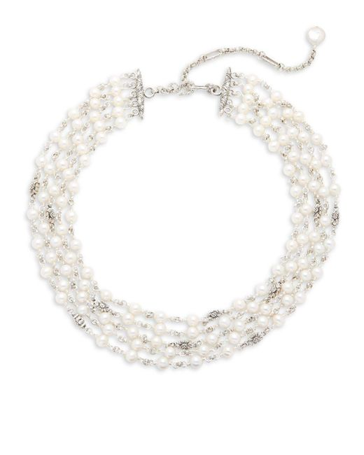 Stephen Dweck | Metallic Jaipur 6mm White Button Pearl, 12mm White Coin Pearl & Sterling Silver Five-strand Necklace | Lyst