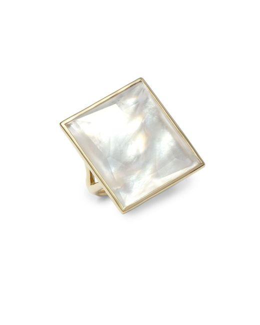 Ippolita | Metallic 18k Gold Gelato® Mother-of-pearl, Quartz & 18k Yellow Gold Doublet Ring | Lyst