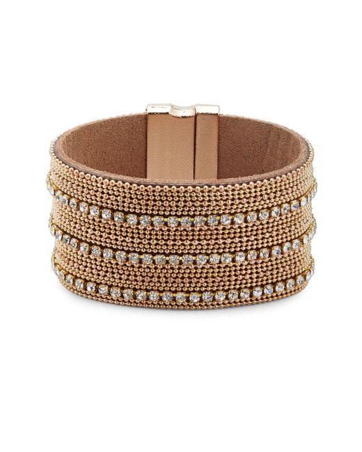Noir Jewelry | Metallic Sparkle Rhinestone-studded Bracelet | Lyst