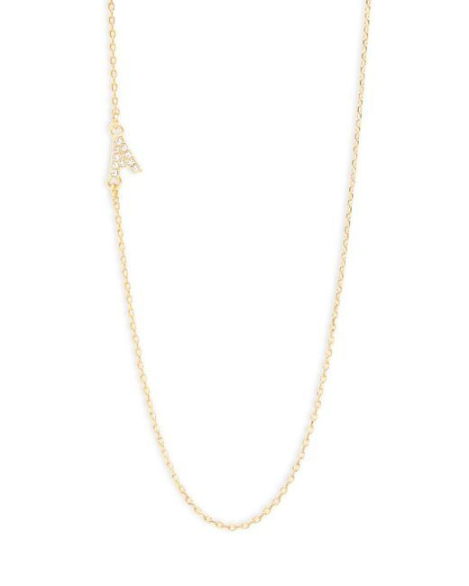 BaubleBar | Metallic Diamanda Alpha 14k Goldplated A-necklace | Lyst
