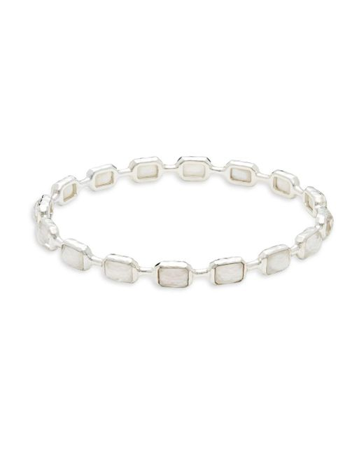 Ippolita | Metallic Rock Candy Mother-of-pearl & Sterling Silver Bangle | Lyst