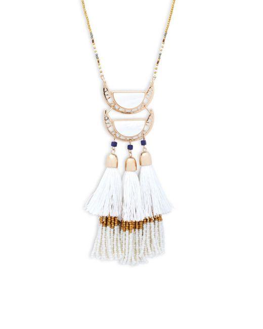 Saks Fifth Avenue | Multicolor Goldtone Tassel Pendant Necklace | Lyst