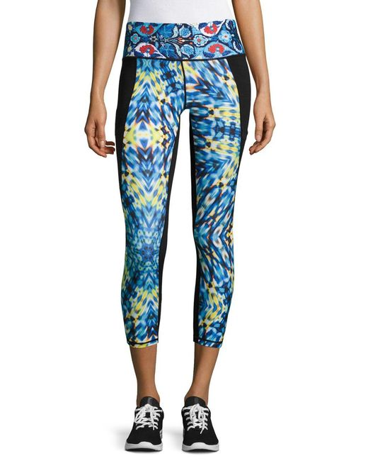 Nanette Lepore | Blue Contrast Active Leggings | Lyst