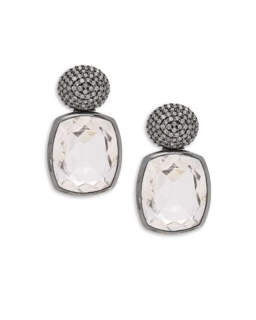 Stephen Dweck | White Diamond & Sterling Silver Earrings | Lyst