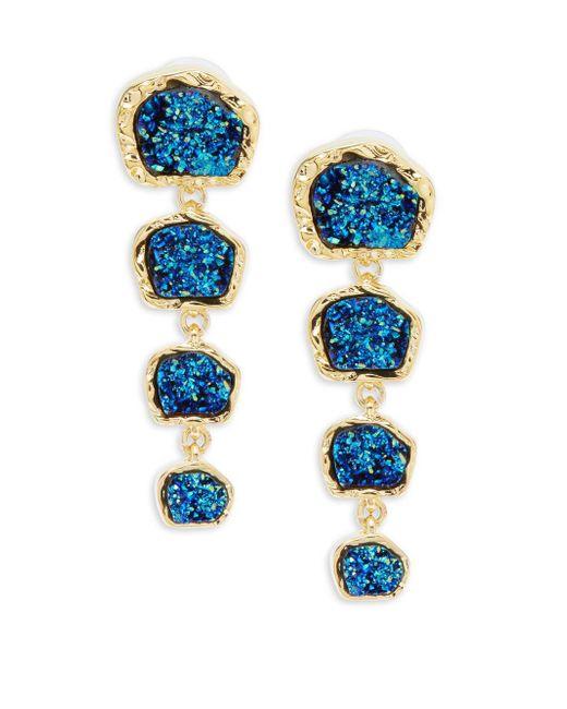 BaubleBar   Blue Tiered Drop Earrings   Lyst