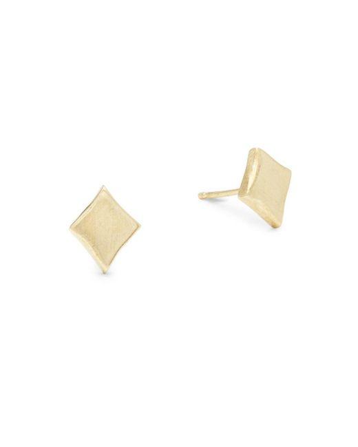 Alex Woo   Metallic Little Vegas 14k Yellow Gold Stud Earrings   Lyst
