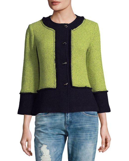 St. John | Multicolor Colorblock Wool-blend Jacket | Lyst