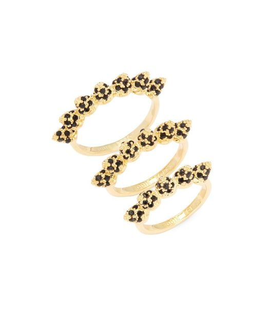 Eddie Borgo | Metallic Pave Cone Band Stackable Ring Set | Lyst