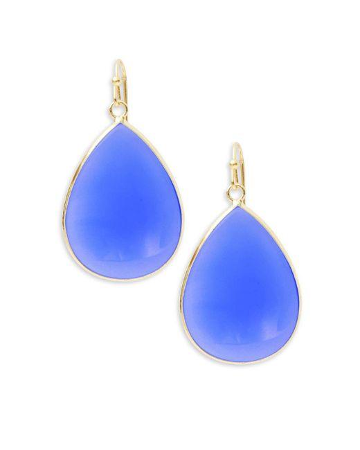 Panacea | Blue Teardrop Drop Earrings | Lyst