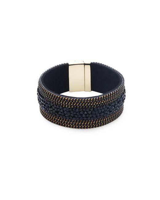 Saks Fifth Avenue | Black Crystal Band Bracelet | Lyst