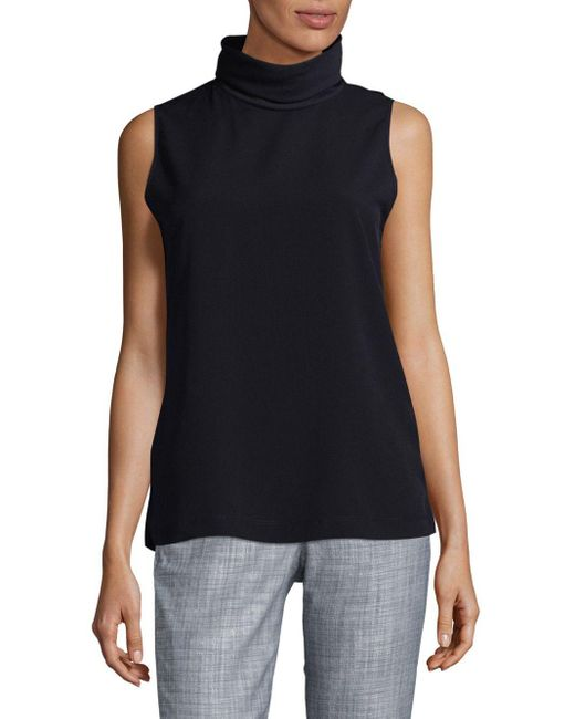 French Connection | Blue Polly Turtleneck Top | Lyst