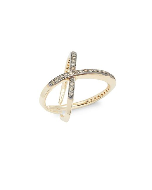 KC Designs | Metallic Champagne Diamond & 14k Yellow Gold Ring | Lyst