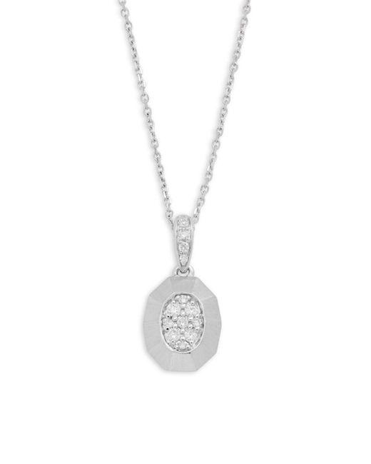 KC Designs | Metallic Diamond & 14k White Gold Pendant Necklace | Lyst