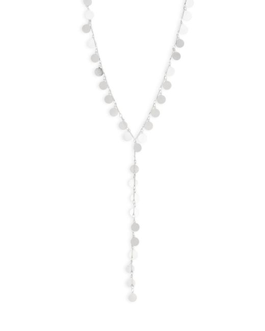 Natasha Couture   Metallic Piette Double Circular Discs Y-necklace   Lyst