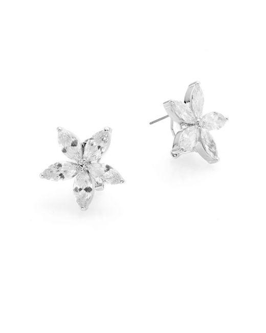 CZ by Kenneth Jay Lane | Metallic Marquis Flower Earrings | Lyst