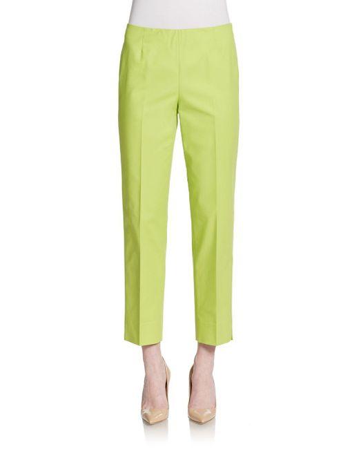 Lafayette 148 New York   Green Cropped Bleecker Pants   Lyst