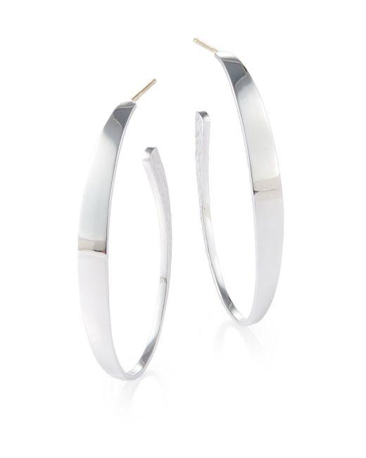 "Saks Fifth Avenue | Metallic Sterling Silver Hoop Earrings/2"" | Lyst"