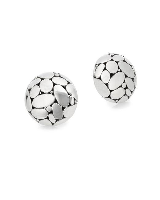 John Hardy | Metallic Kali Sterling Silver Button Earrings | Lyst