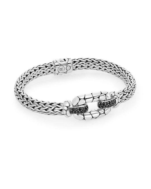 John Hardy | Metallic Kali Black Sapphire & Sterling Silver Station Bracelet | Lyst