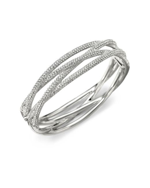 Adriana Orsini | Metallic Pavà Intertwined Bangle Bracelet | Lyst