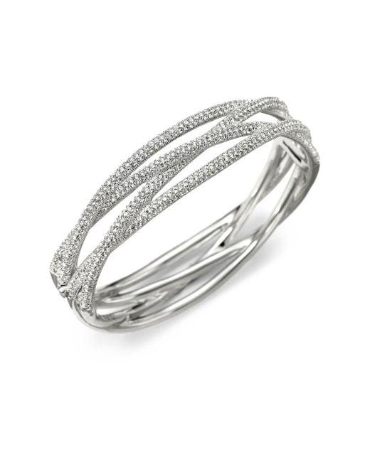 Adriana Orsini | Metallic Pavà Intertwined Bangle Bracelet | Lyst