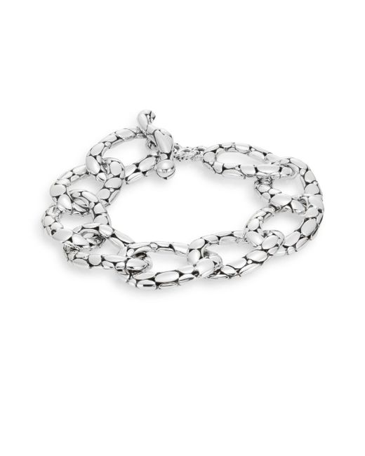 John Hardy   Metallic Kali Sterling Silver Flat Link Bracelet   Lyst