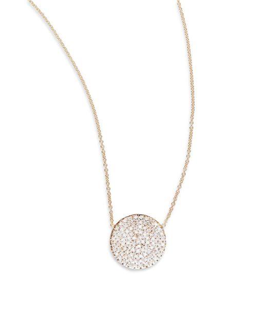 Kacey K | Metallic Diamond & 14k Gold Disc Necklace | Lyst
