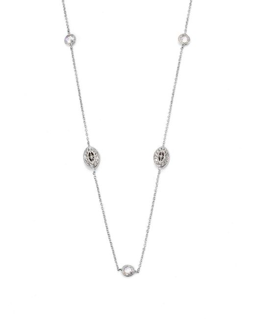 Adriana Orsini | Metallic Pavà Navette Double Wrap Necklace | Lyst