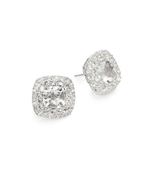 John Hardy | Metallic White Topaz & Sterling Silver Earrings | Lyst