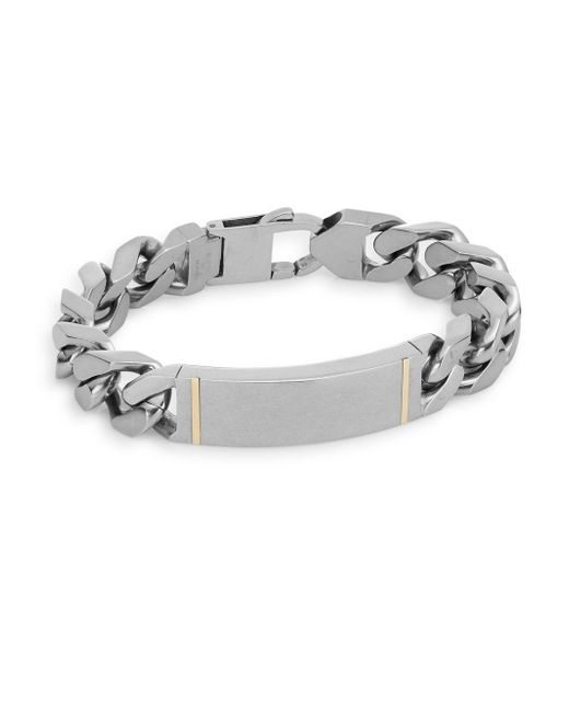 Saks Fifth Avenue | Metallic 14k Yellow Gold & Stainless Steel Large Link Bracelet | Lyst