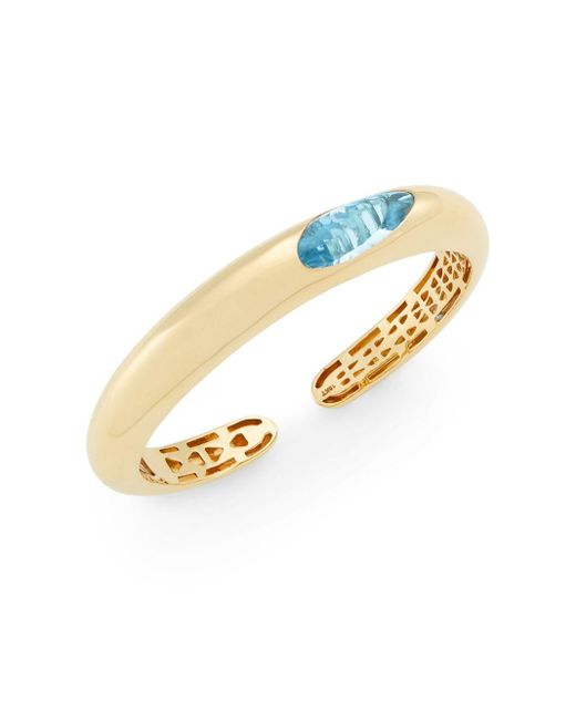 Roberto Coin | Metallic Capri Plus Blue Topaz & 18k Yellow Gold Bracelet | Lyst