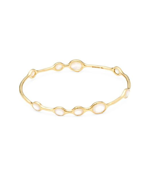 Ippolita - Metallic Rock Candy Mother-of-pearl And 18k Gold Bangle Bracelet - Lyst