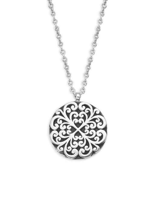 Lois Hill - Metallic Classic Sterling Silver Geometric Pendant Necklace - Lyst