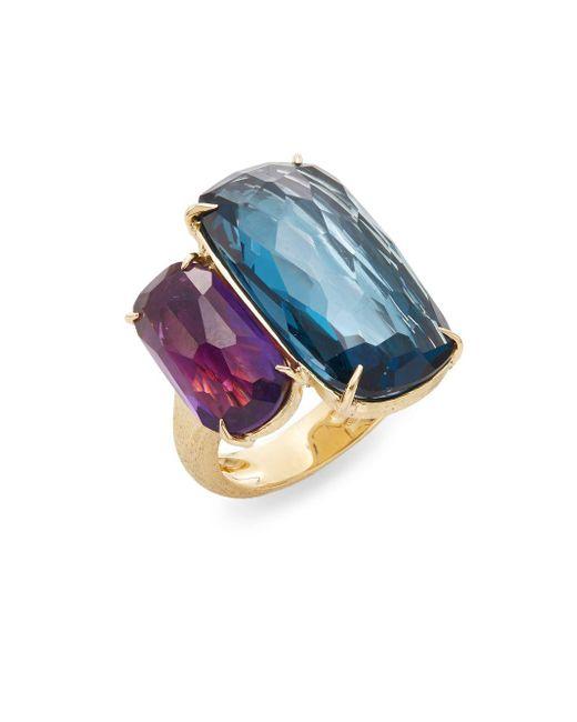Marco Bicego - Metallic Murano London Blue Topaz, Amethyst & 18k Yellow Gold Ring - Lyst