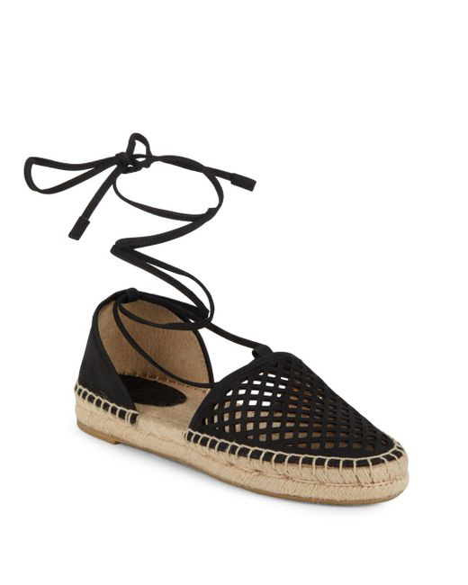 Frye - Black Round Toe Lace-up Espadrilles - Lyst