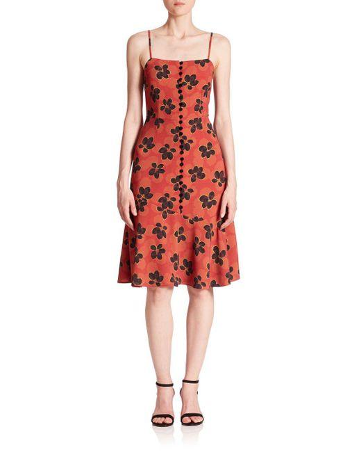 Suno - Red Flare Hem Tank Dress - Lyst