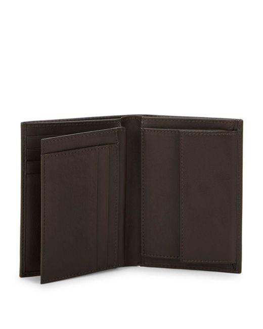 a0f6a9fb804e4 ... Class Roberto Cavalli - Brown Logo Leather Bi-fold Wallet for Men -  Lyst ...