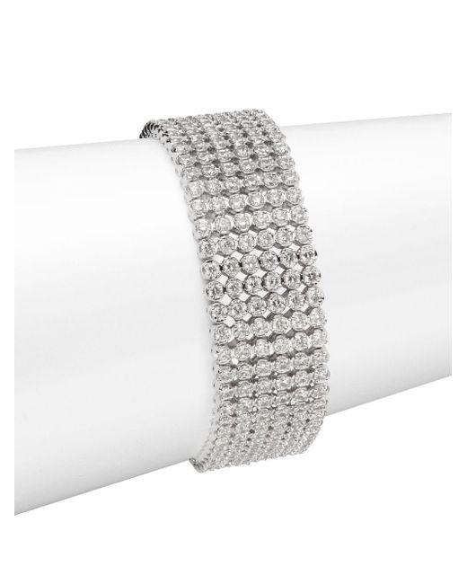 Saks Fifth Avenue | Multicolor Crystal Bezel Tennis Bracelet | Lyst