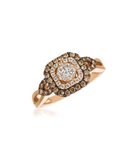 Le Vian - Metallic Chocolatier® Chocolate & Vanilla Diamond® Framed Cluster Ring - Lyst