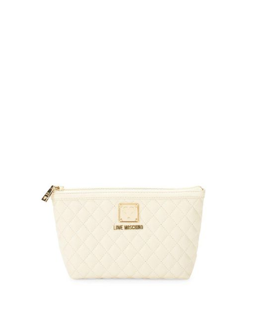 Love Moschino - White Bustina Quilted Pouch - Lyst