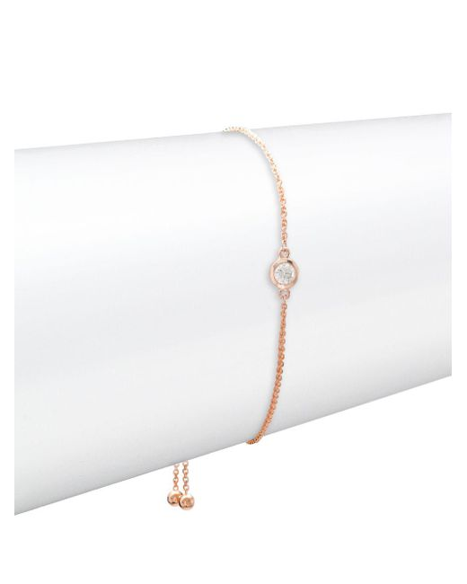 Effy - Metallic 14k Rose Gold & Diamond Bracelet - Lyst