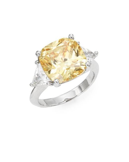 Saks Fifth Avenue | Metallic Cushion-cut Ring | Lyst