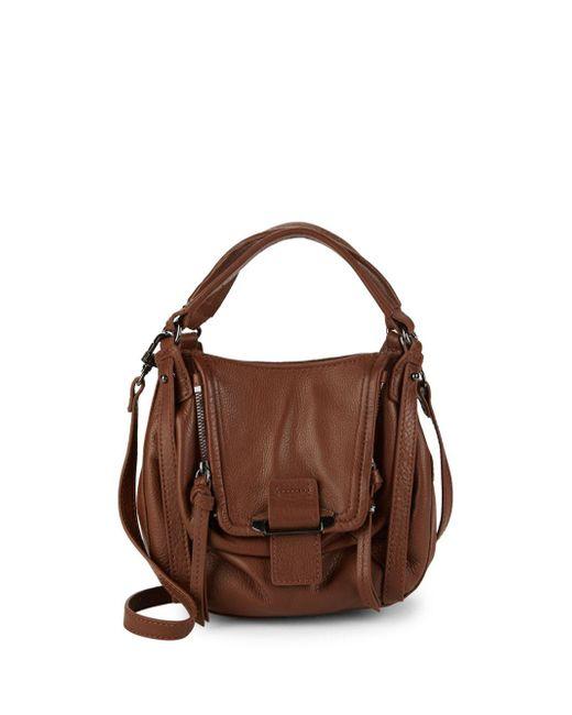 Kooba - Brown Mini Jonnie Leather Shoulder Bag - Lyst